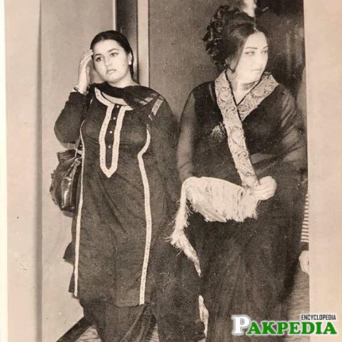 Noor Jahan with her friend