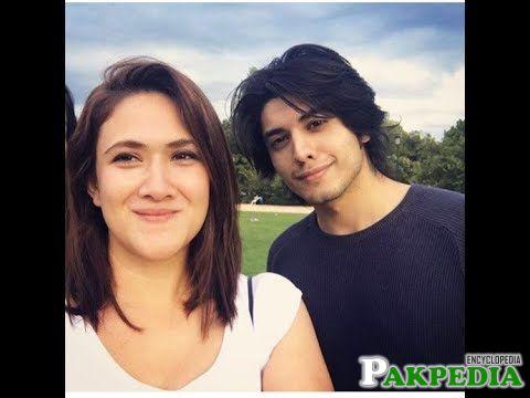 With Ali zafar's wife