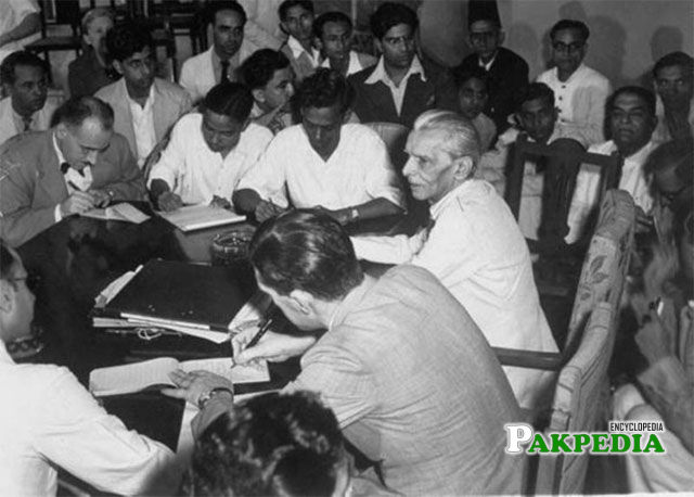 Jinnah during elections 1937