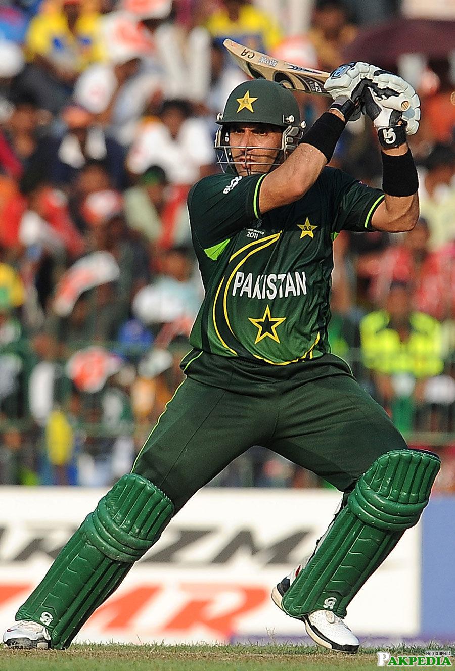 Misbah-ul-Haq hitting hard