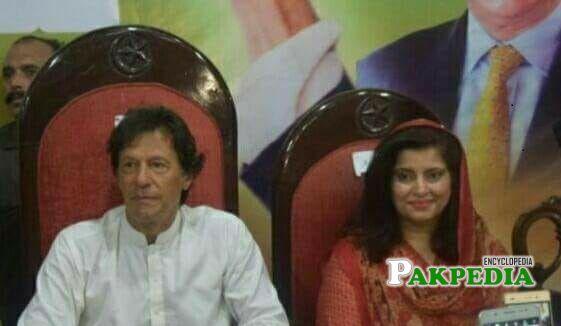 Asia Amjad with Imran Khan