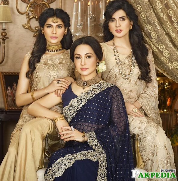 Zeba Bakhtiar with Mahnoor and Amina