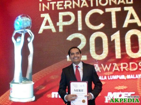 Farhan Masood Recieved a Award