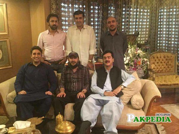 With Bilawal and Yousaf Raza Gillani
