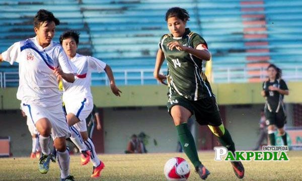 A remarkable footballer Hajra Khan