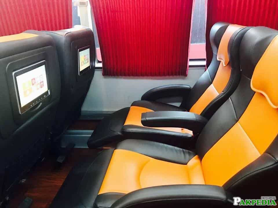 Faisal Movers has luxury interior in buses