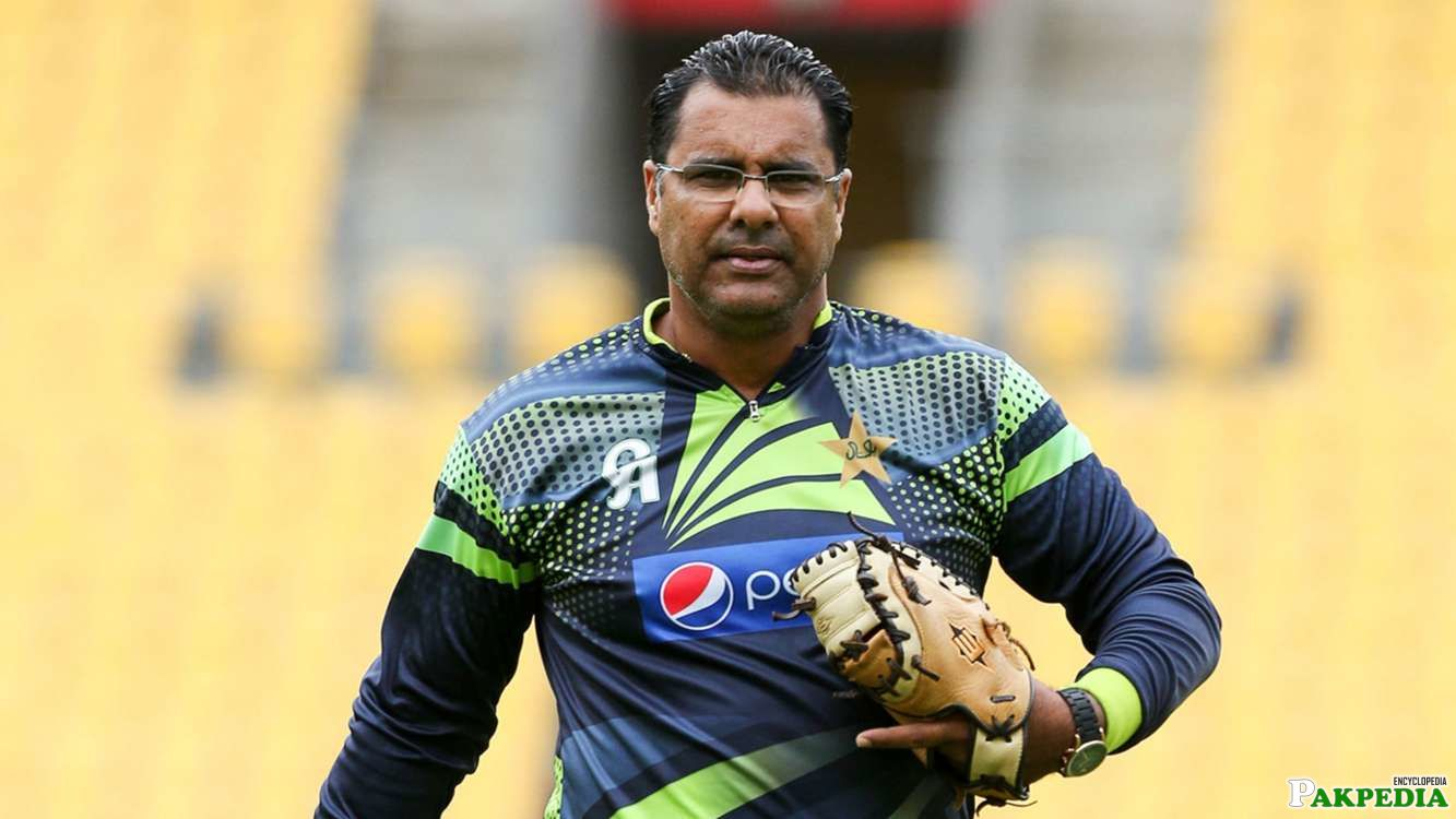 Waqar Younis in Ground