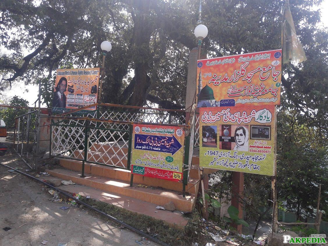 Mujahida Hussain Bibi's rest place