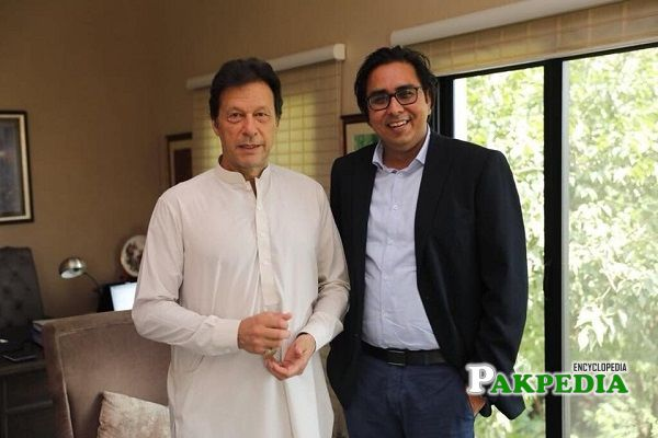 Shahbaz Gill with Prime Minister Imran Khan