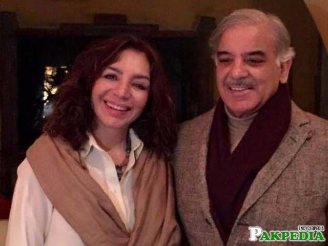 Shehbaz Sharif with wife