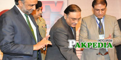 Yousaf Baig with Asif Zardari