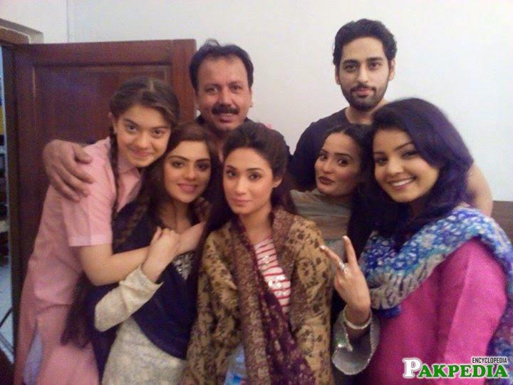 With the Cast of Murada Mai