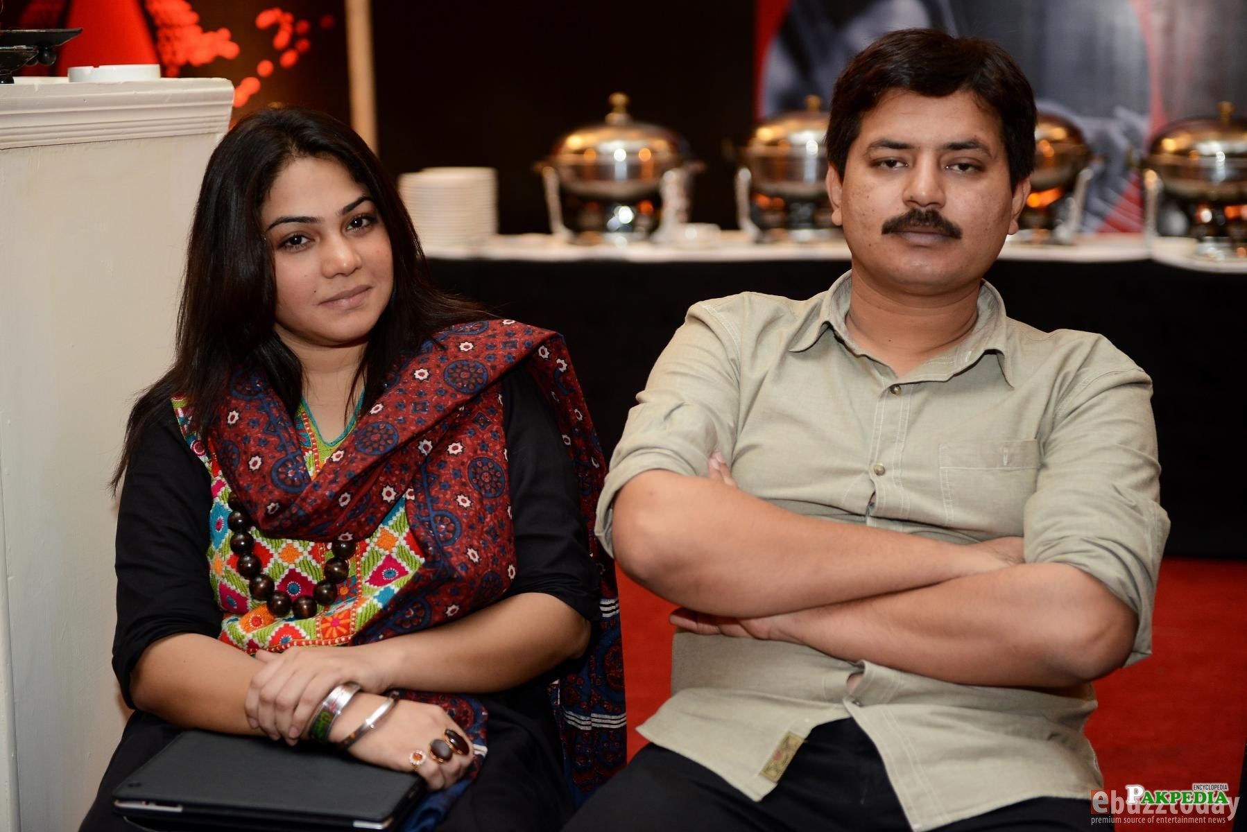 With Husband Hamid