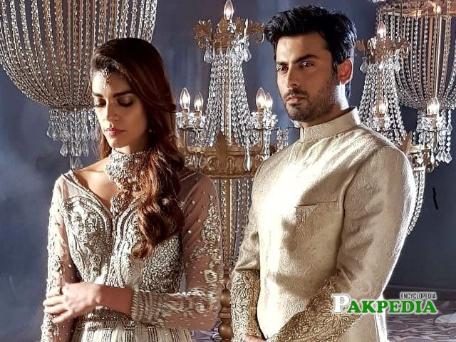 Sanam with Fawad Khan during shoot for a designer