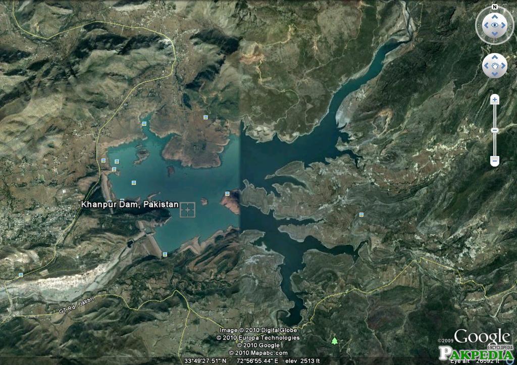 Khanpur Dam google map