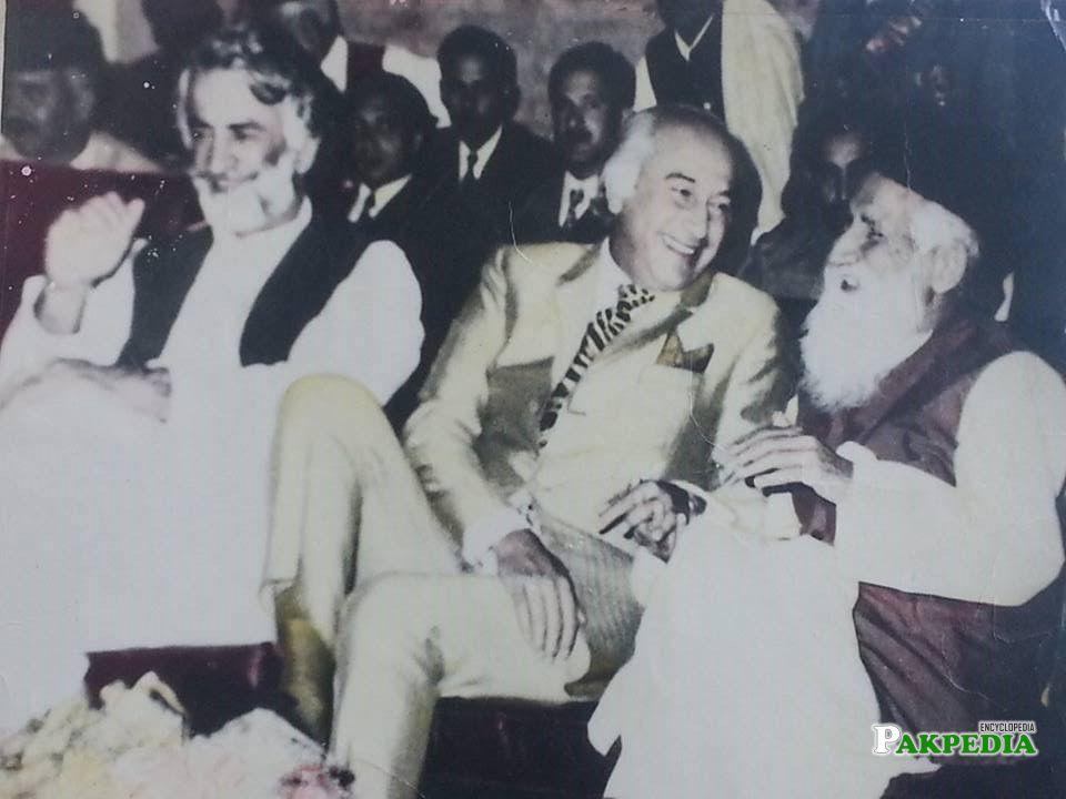 Akbar Bugti with Zulfkar Ali Bhutto