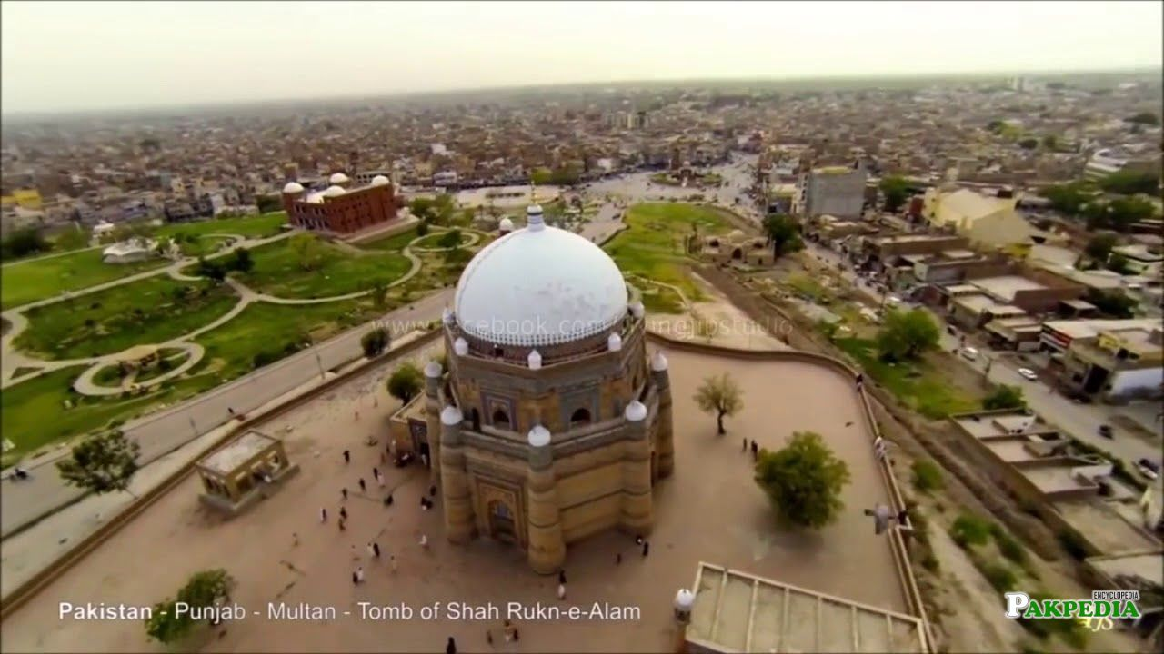 Aerial view of Shah Alam tomb