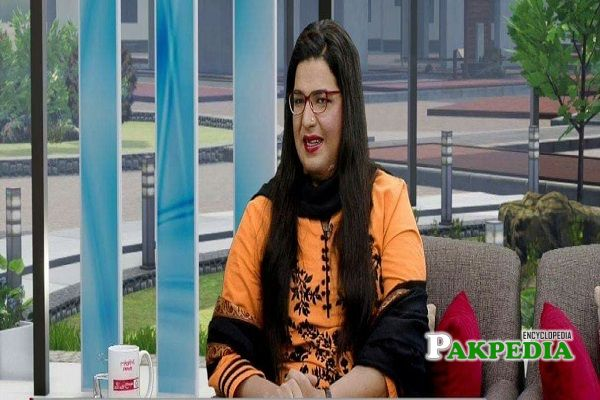 Nayab Ali in a morning show