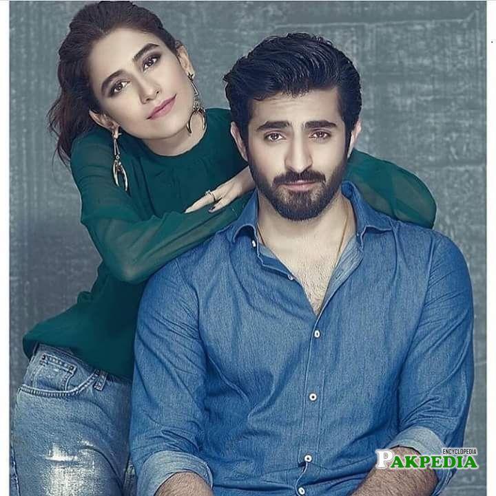 Syra with Shehryar Munawar during photoshoot