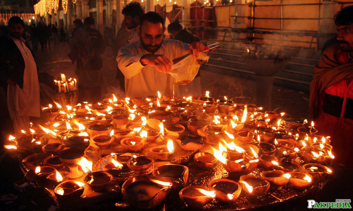 Shrine of Ali Hujwiri Decorated with lights