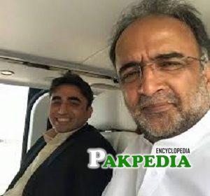 Qamar Zaman with Bilawal Bhutto