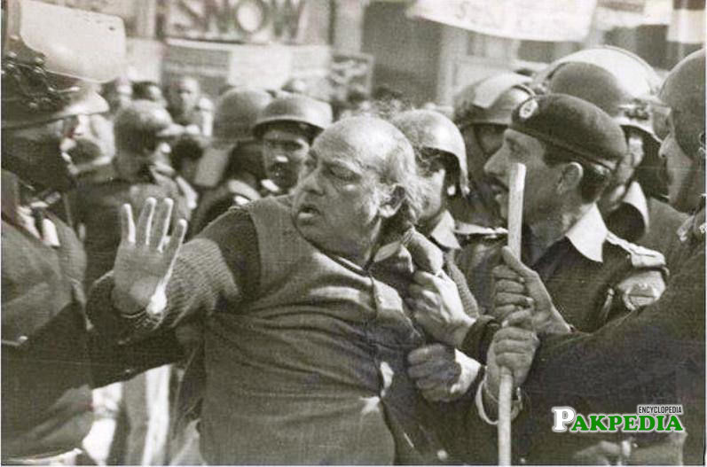 Habib jalib was arrested for many times due to his bold views
