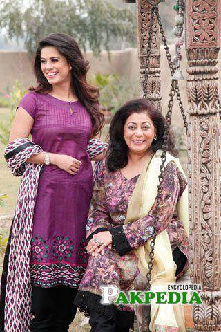 With Mother Seemi Raheel