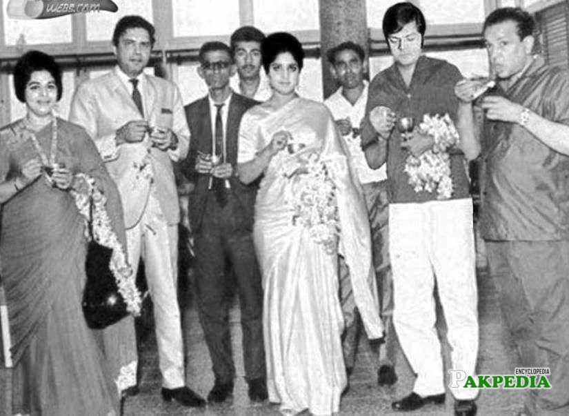 Syed moosa and sabiha in a Party at Wahees Murad's place