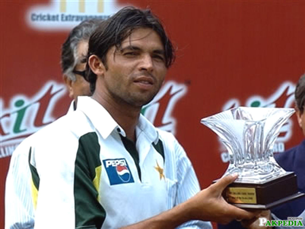 Mohammad Asif With Troffy