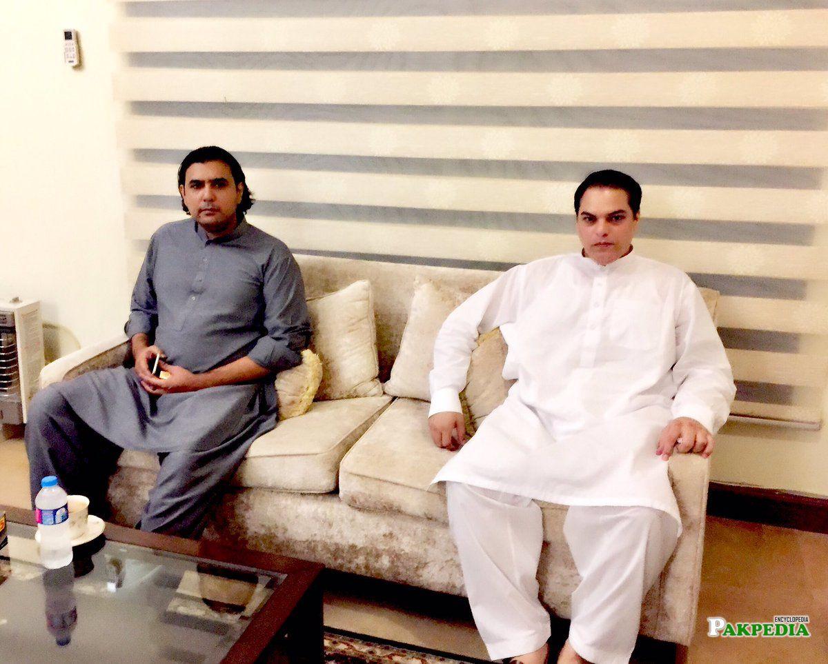 With Mohammad Amoon pasha