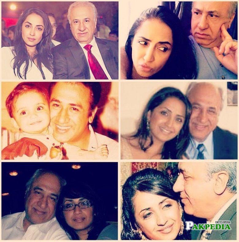 Zara Tareen with her father Iqbal Tareen