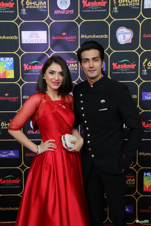 Yumna Zaidi at the red carpet of Hum awards