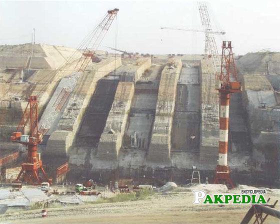 Ghazi Barotha hydro plant construction