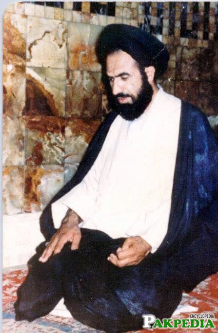Shaheed allama while offering prayer
