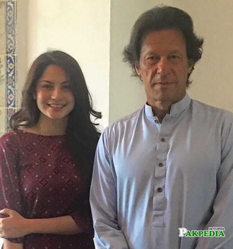 Neelam with PM Imran khan