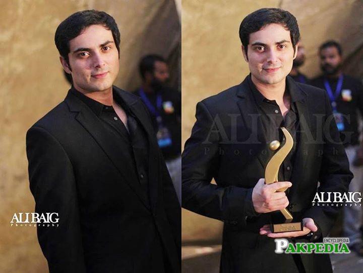 Bilal Lashari with his award of best director