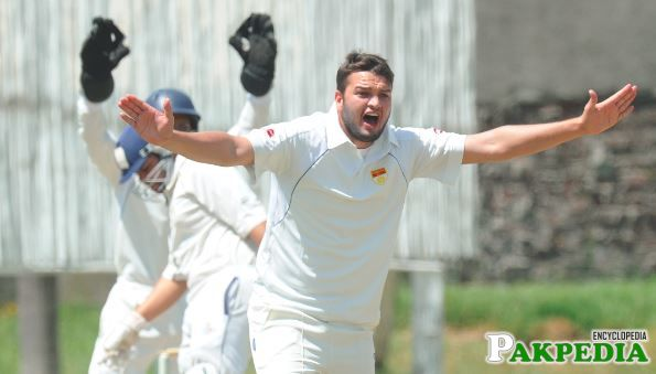 Usman Qadir Appealing For Wicket During Match