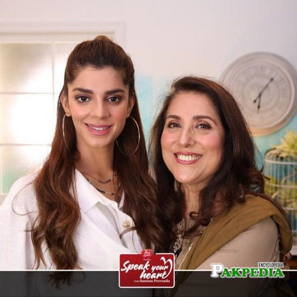 Sanam Saeed on Samina Pirzada's show
