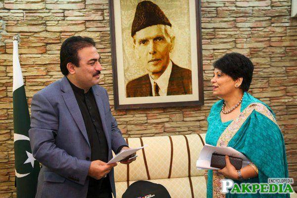 Rehmat Saleh Baloch in Office