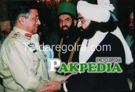 Peer Naseer shah met ex-president Gen. Pervaiz Musharraf