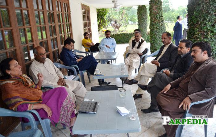 Safdar Ali Abbasi in a party meeting