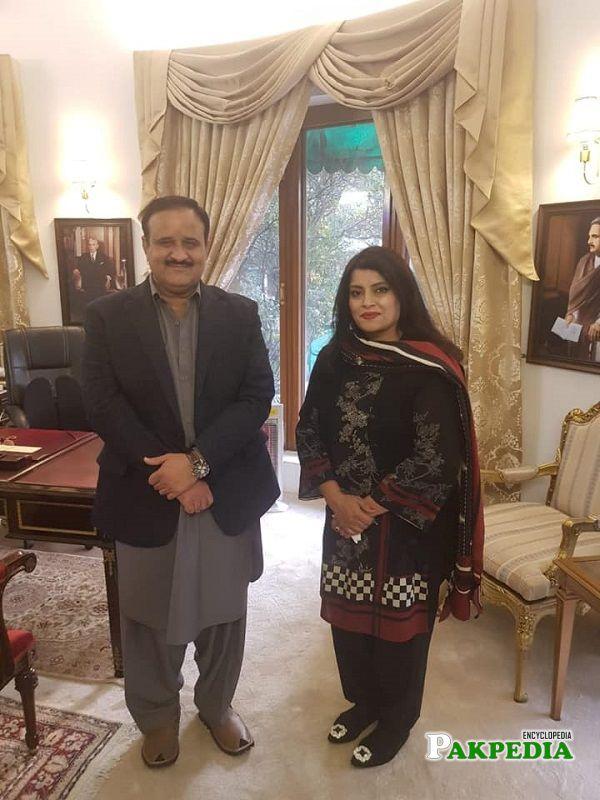 Asia Amjad with Usman Buzdar