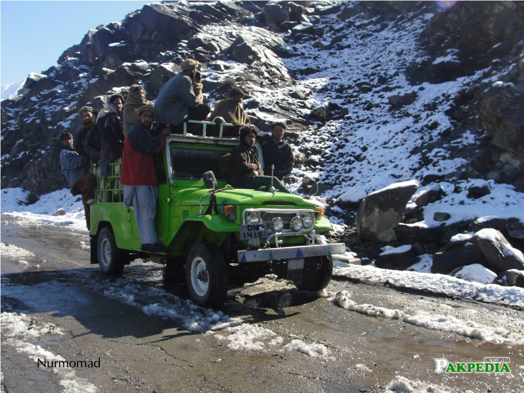 Snow Fall in Chilas