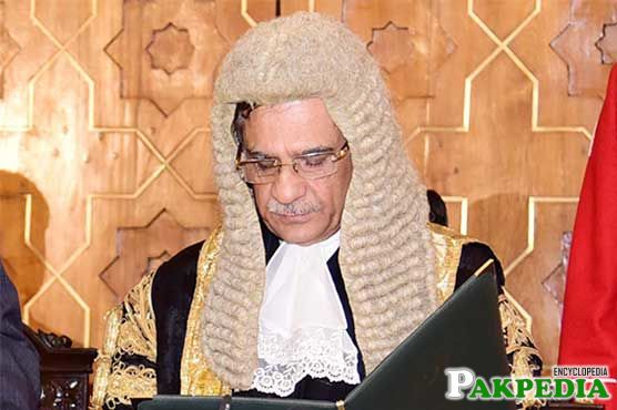 Mian Saqib Nisar Taking Oath of Chief Justice of Pakistan