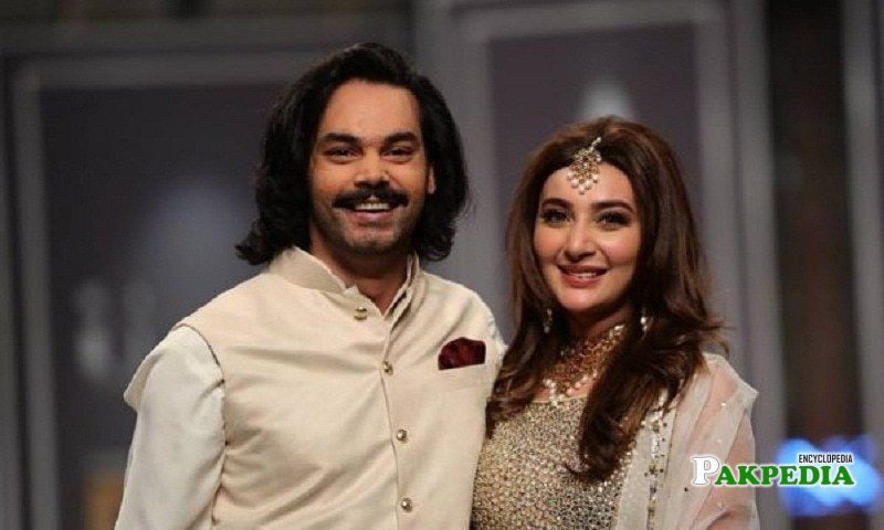 Gohar Rasheed with Ayesha khan on a ramp