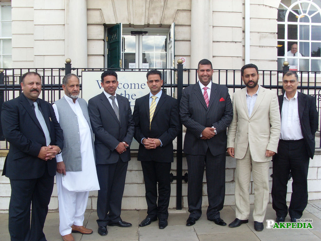 Zubair Gull n Team PMLN UK in London