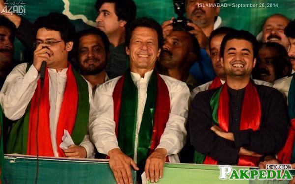 Murad Saeed with imran khan