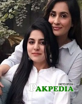 Sabreen Hisbani with her sister Sanam Baloch