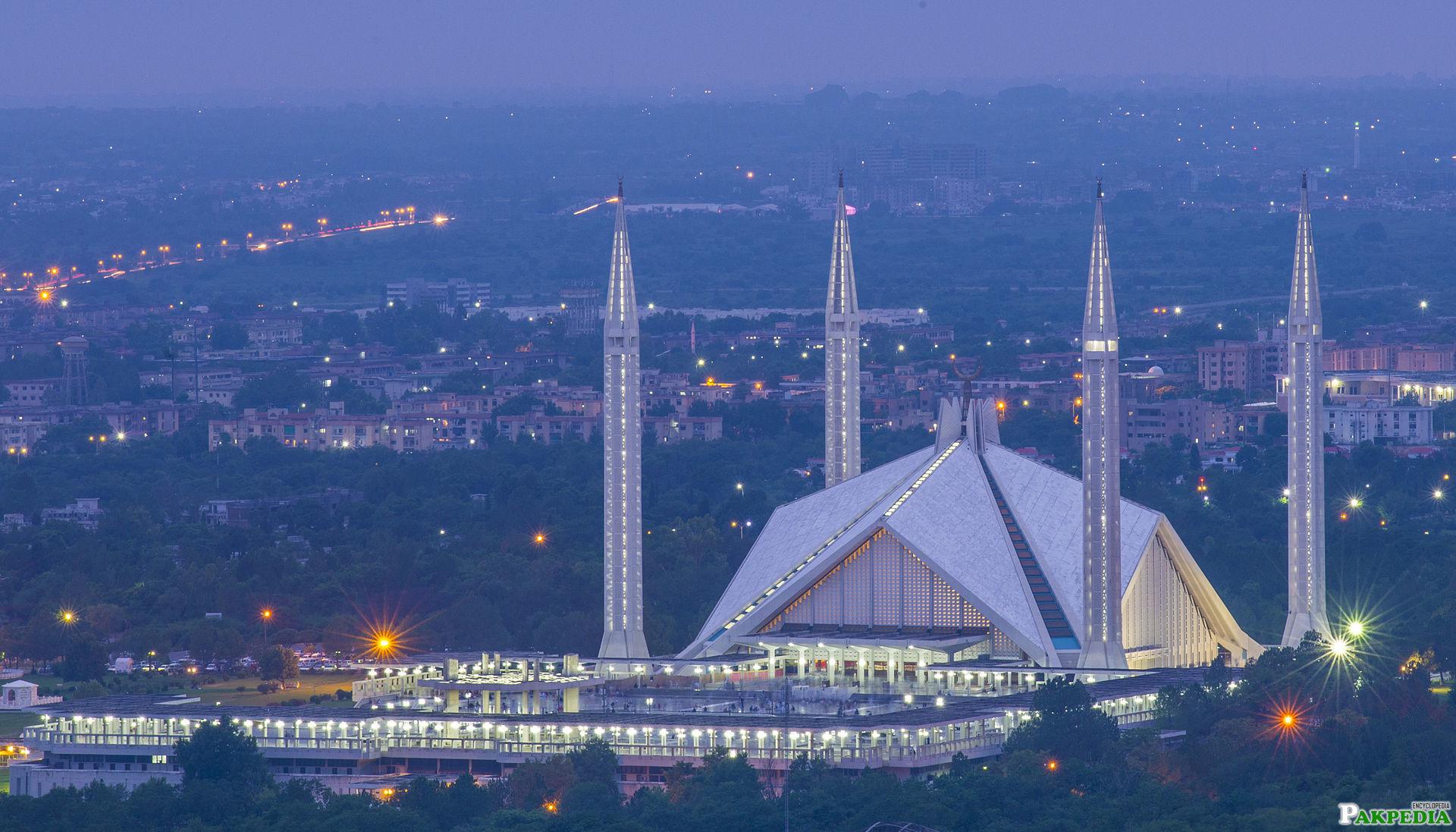 Faisal Masjid in Islamabad