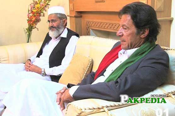 Siraj ul Haq with Imran Khan